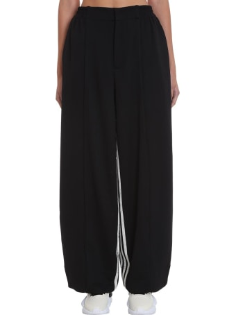 Y-3 Pants In Black Polyester