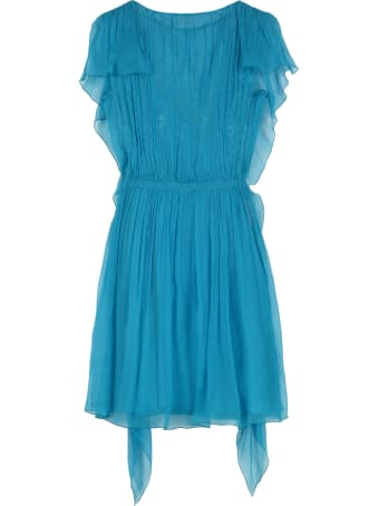 Alberta Ferretti Ruffled Chiffon Dress