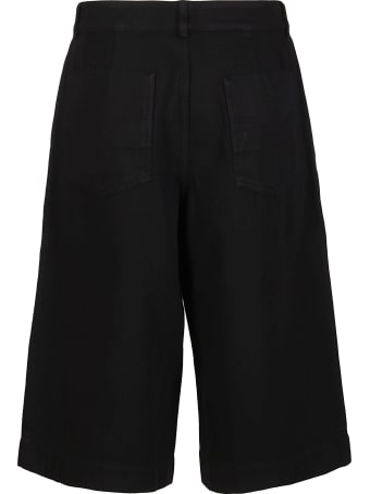 Kenzo Black Cotton Shorts