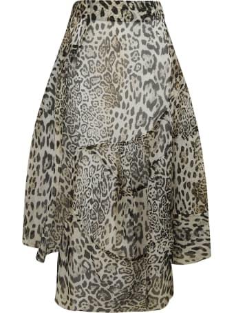 Ermanno Scervino Asymmetric Printed Skirt