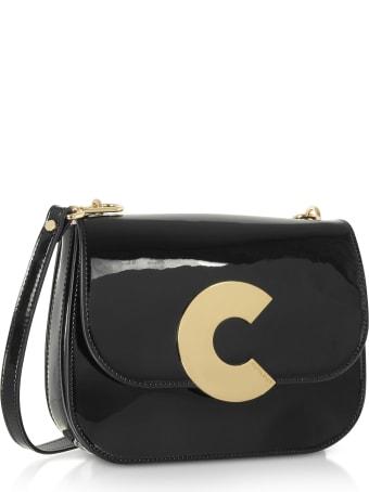 Coccinelle Craquante Rock Medium Patent Leather Shoulder Bag