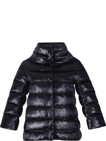 Herno Lurex And Velvet Padded Jacket