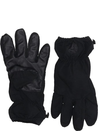 Stone Island Gloves In Black Tech/synthetic
