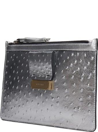 Visone Kim Clutch In Silver Leather