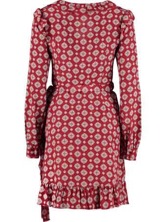 MICHAEL Michael Kors Printed Silk Wrap-dress