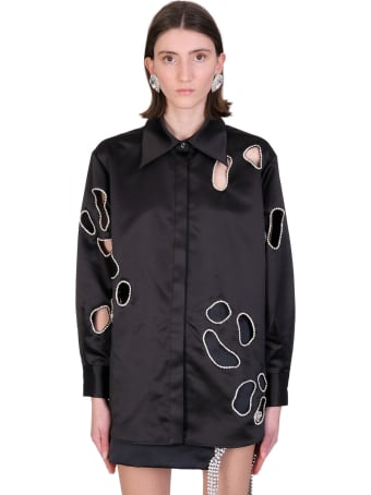 AREA Shirt In Black Polyester