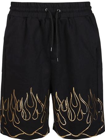 Ihs Black Cotton Shorts