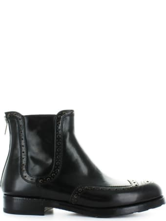 Barracuda Black Leather Chelsea Boot