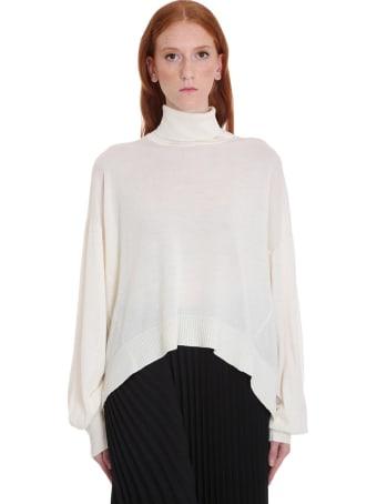 Maison Flaneur Knitwear In White Wool