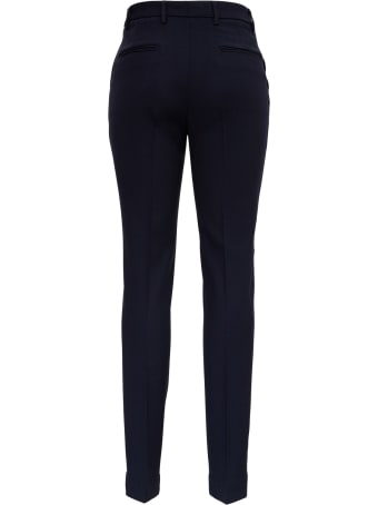 Tonello Blue Stretch Wool Pants