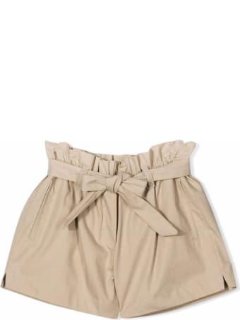 Dolce & Gabbana Beige Cotton Paperbag Shorts
