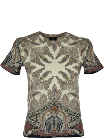 Etro Paisley Cotton T-shirt Fitted