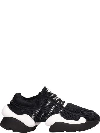 Y-3 Kaiwa Pod Black Mesh Sneakers