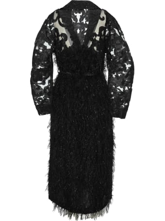 Ganni Feathery Belted Coat
