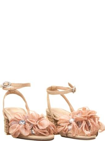 Alma en Pena Alma En Pena Ballet Pink Flower Sandals