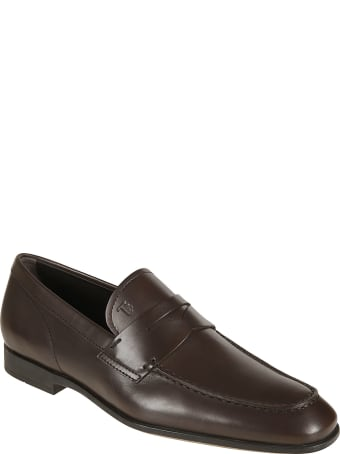 Tod's Classic Logo Stamped Loafers