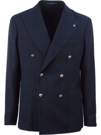 Tagliatore Blue Double-breasted Blazer