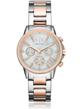 Armani Collezioni Armani Exchange Lady Banks Two Tone Chronograph Women's Watch