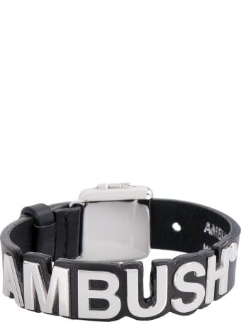 AMBUSH Logo Charm Leather Bracelet