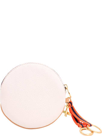 Tory Burch 'havana' Leather Keyring
