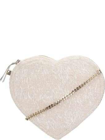Anniel Heart Furry Crossbody Bag