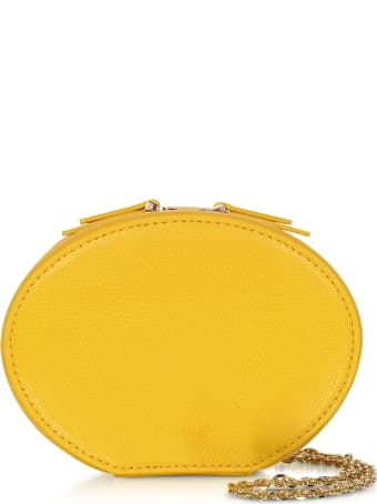 Cafuné Dandelion Yellow Leather Egg Chain Shoulder Bag