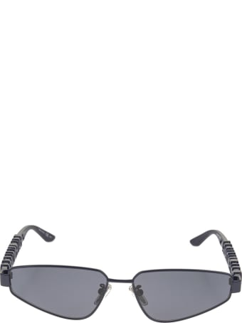 Balenciaga Blue Typo Rectangle Sunglasses For Women