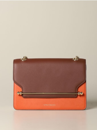Strathberry Crossbody Bags East / West Strathberry Handbag In Tricolor Leather