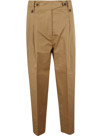 Brag-Wette Buttoned Detail Trousers