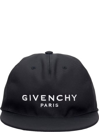 Givenchy Cap Flat Peak Hats In Black Cotton