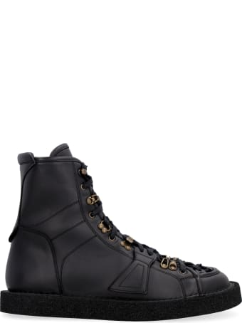 Dolce & Gabbana Modigliani Leather Ankle Boots