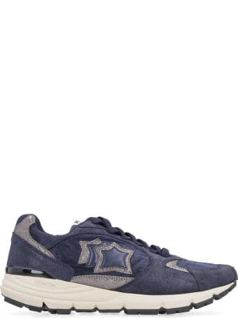 Atlantic Stars Mira Techno-fabric And Leather Sneakers