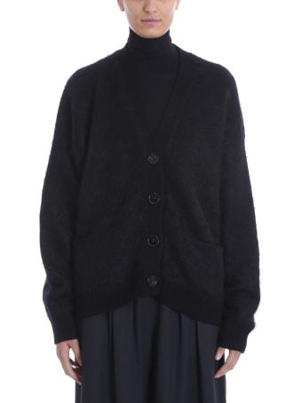 Acne Studios Rives Mohair Cardigan In Black Wool