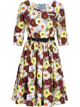 Prada Prada Floral Print Dress