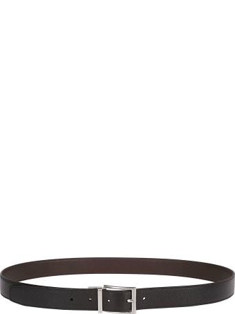 Tod's Black Leather Buckle Belt