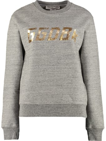 Golden Goose Aiako Logo Detail Cotton Sweatshirt