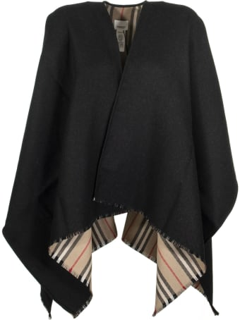 Burberry Icon Stripe Wool Cape Scarves
