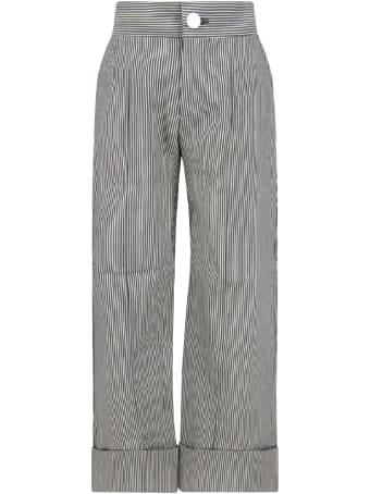 Owa Yurika White And Blue ''hiromi'' Girl Pants