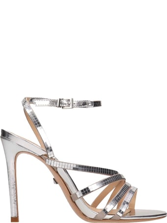 Schutz Silver Leather Sandals