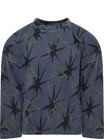 Goganga Blue Sweatshirt With Green Stars