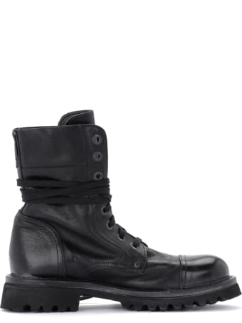 Moma Cusna Ankle Boot Made Of Black Leather