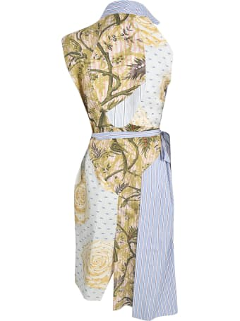 Vivienne Westwood Floral Print Striped Dress
