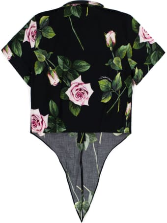 Dolce & Gabbana Cropped Poplin Shirt