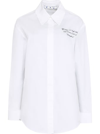 Off-White Embroidered Cotton Shirt