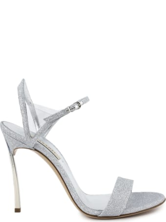 Casadei Silver Leather Sandals