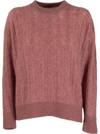 Agnona Mixed Points Crew Neck Cashmere And Silk