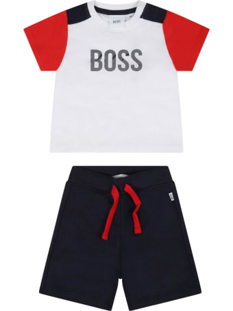 Hugo Boss Multicolor Suit For Baby Boy With Logo