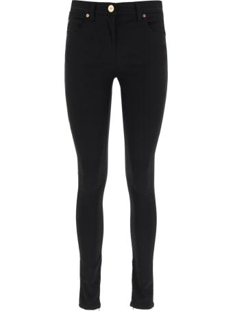 Versace Bi-material Skinny Pants