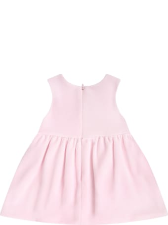 Blumarine Pink Dress For Babygirl With Logo