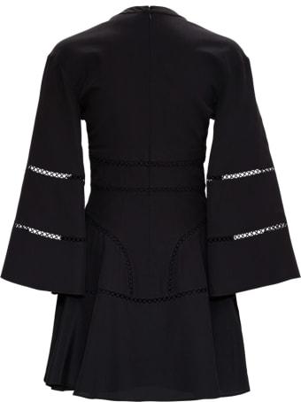 Giovanni Bedin Silk Crepe Dress With Openwork Details